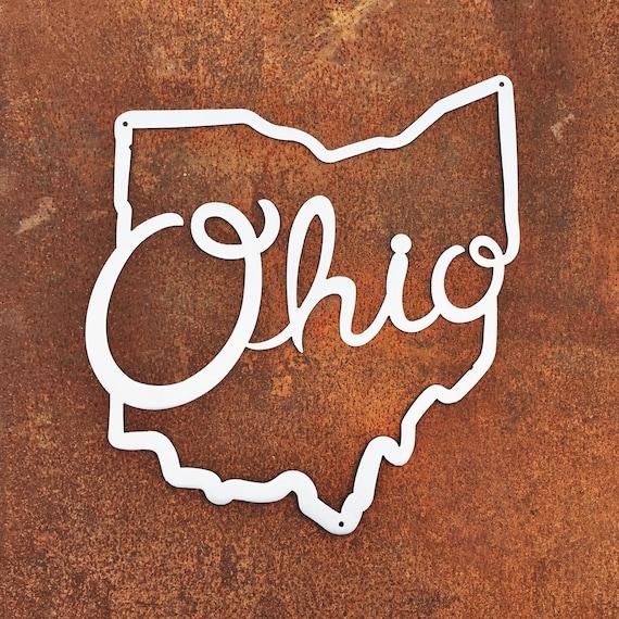 Ohio State Script Metal Wall Art   Ohio State Metal Wall Art   Ohio Script