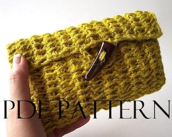 CROCHET PATTERN BAG Clutch Bag Pouch Daiquiri bag Crochet Purse Bag pdf pattern Instant Download crochet Purse Bag Summer Bag Jute Pouch