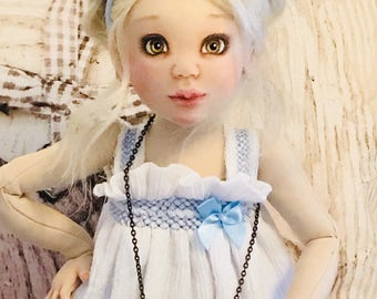 BJCD - 40 cm face painted cloth doll