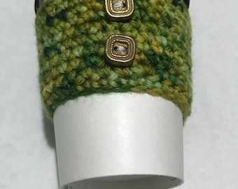 Green and Gold Cup Cozy