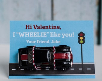 Custom Printable Car Kids Valentine Card