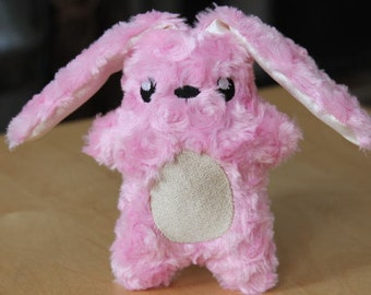 Pink Plush Bunny, Personalized