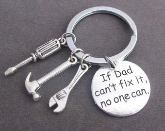 Si papa ne peut pas le réparer personne ne peut à la main des outils porte-clés, porte-clés de papa, cadeau pour papa, cadeau papa, fête des pères, père Keychain, livraison gratuite dans le USA