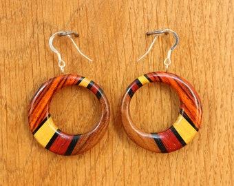 """Earrings """"Mwènẽn mwa wei"""" - wooden jewelry"""