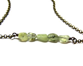 Prehnite Choker Necklace Top Selling Jewelry Boho Choker Necklace Gift for Women Layer Necklace Choker prehnite, gift for her