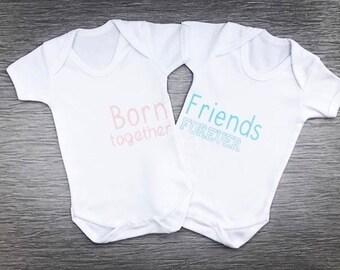 Born Together, Friend Forever Twin Set Vests