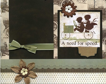 A Need for Speed - 12x12 Premade Scrapbook Page