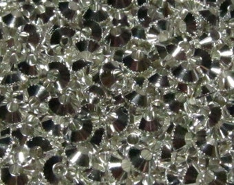 1/4 lb Silver Bulk Mix Jewelry Making 4mm Bicone Spacer Beads