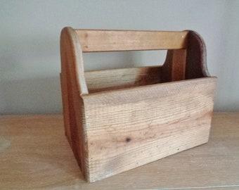 Vintage Wood Tool Box Caddy