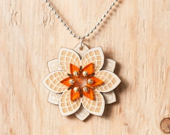 Steampunk Flower Pendant