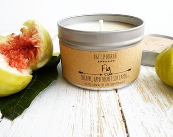 Fig Soy Candle, Scented Soy Candle, Fig Candle, Organic Soy Candle, Soy Candle, Organic Candle, Natural Candle, Soy Wax, Aromatotherapy