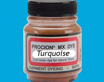 Procion MX Dye, Turquoise, the most vivid of all dyes for cellulose (natural) fibers by Jacquard