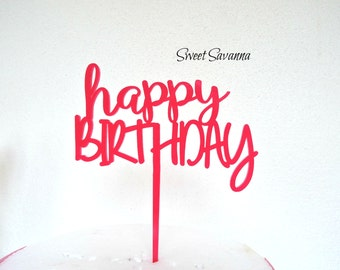 Happy Birthday Cake Topper N6 MADE IN AUSTRALIA