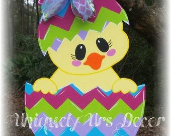 Easter Chick Door Hanger, Easter Door Hanger, Door Hanger, Easter Door Hanger, Egg Door Hanger