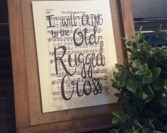 The Old Rugged Cross | Hand Painted Sign | hymn