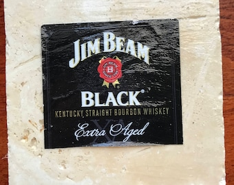 Jim Beam Black Bourbon Coaster - Whiskey Coaster - Jim Beam Black Kentucky Straight Bourbon
