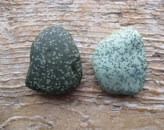 Unique SLAG Beach STONE Cabinet KNOBS Green Beach Stone Drawer Pulls