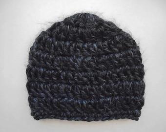 Baby boy hat, newborn boy hat, newborn boy beanie, crochet baby hat, crochet newborn hat, boy newborn hat, baby boy beanie,charcoal baby hat