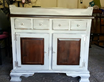 Vintage Chalk Painted Changing Table