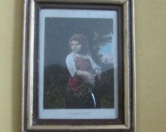 doll house miniature framed photo girl