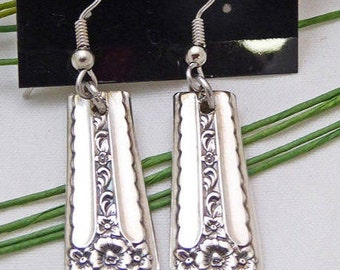 Spring bouquet 1954 Silverware earrings, silver jewelry, vintage, upcycled, pierced, free gift box