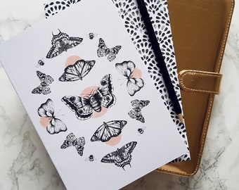 A5 Botanical Butterfly Notebooks Pack of 2