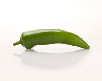 Green Chilli Pepper ,  Handmade, Fine Art Colour image