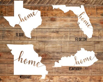 Home State Decals