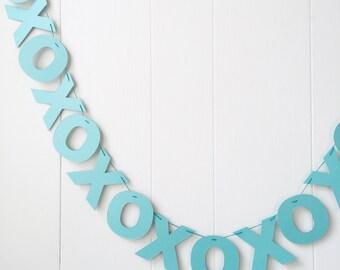 XOXO Banner- Hugs and Kisses Garland- Valentines Bunting- Love Garland - Anniversary Garland -Bridal Shower - Wedding Decor - Photo Prop
