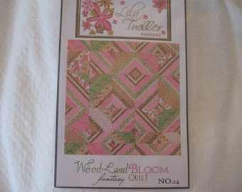 Lila Tueller Designs Quilt Pattern for Woodland Bloom Fantasy Quilt