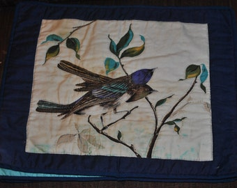 Small Wall Quilt of Birds on Tree #3