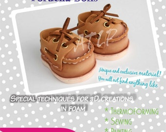 Step by Step Tutorial - Nautical Shoes for Foamy FOFUCHA DOLLS - Template