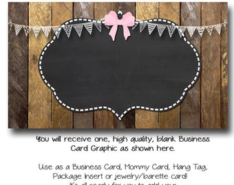 Bows Business Card Template - Ribbons and Bows - Made to Match Etsy Sets and Facebook Timeline Covers
