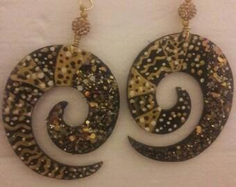 Golden Queen earrings