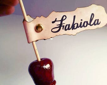 Toffee Apple treat cards