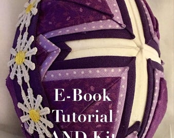 E-Book Tutorial AND KIT for folded fabric cross