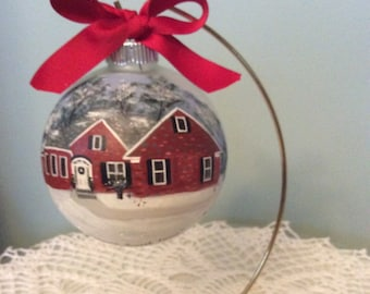 "Hand Painted 3.25"" Custom House Ornament"