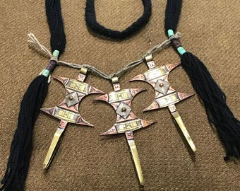 Ethnic African cross necklace
