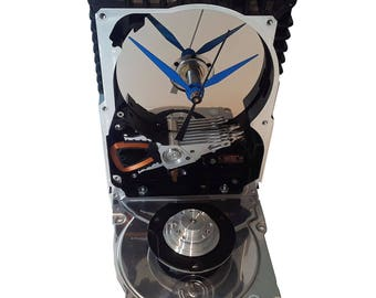 Sale! Hard Drive Clock, Unique Shape Clock. Got Office Gift Clock, Geek Friend Clock, Geek Gift Clock, Novelty Clock, Cool Clock, Geek Decor
