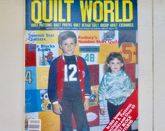 Quilt World Magazine, April 1982, Quilting Magazine, quilt patterns, pattern magazine, vintage magazine, craft patterns, sewing, quilting