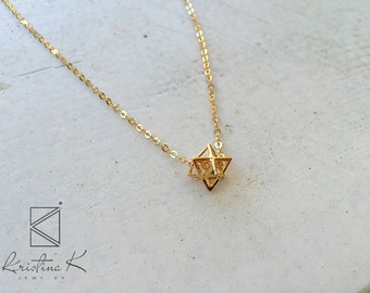 Gold filled Geometric Necklace   Curb Necklace   Geometric Charm   Gold Jewelry   Daily jewelry   Gold filled Necklace, valentine's day gift