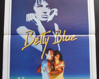 """Poster original movie BETTY BLUE. """"37 ' 2 le matin"""" by Jean-Jacques Beineix 1986."""