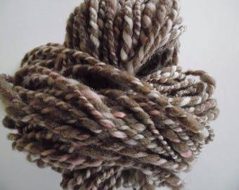 Hand Spun 2 Ply Chocolate  Yarn. Knitting, Crochet, Weaving