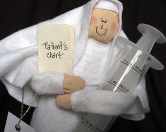 Nun doll nurse Catholic humor keepsake gift Sister Meddie Kate