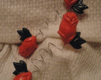 Attractive Rose Curtain Wire Wraps