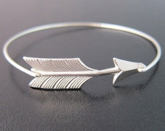 Cupid Arrow Bracelet, Arrow Bangle, Valentine's Day Gift Idea, Valentine's Day Jewelry, Arrow Braclet, Stacking Bracelet, Frosted Willow