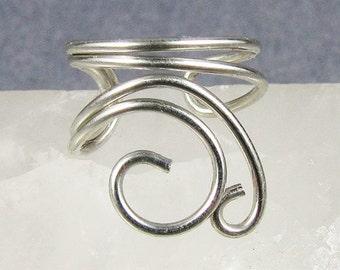 Silver Mini Swirls Ear Cuff