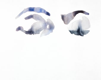 eye study no. 1 . original watercolor painting