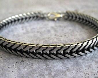 Men's Silver Bracelets - Mens Bracelet - Mens Jewelry - Jewelry For Men - Bracelets For Men - Gift for Him - Men's Gifts