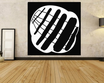 Original Artwork Extra Large Abstract Painting, Acrylic Painting Canvas Art Hand Painted Black And White Minimalist Painting 20 30 40 50 60